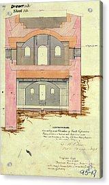 Alcatraz South Capniere Drawing 1856 Acrylic Print
