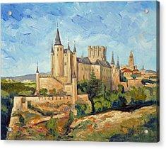 Alcazar In Segovia Acrylic Print