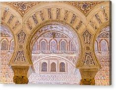 Alcazar Of Seville - Unique Architecture Acrylic Print by Andrea Mazzocchetti