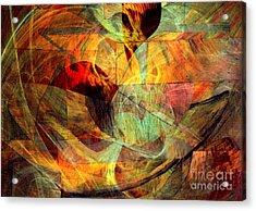 Alchemy 5 Acrylic Print by Helene Kippert