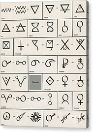 Alchemy Symbols Acrylic Print by Science Source