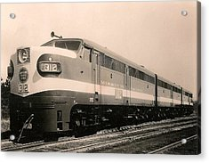Alcoa Ge Freight Locomotive Acrylic Print