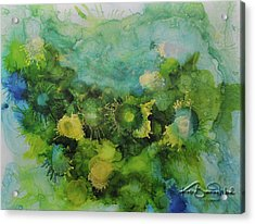 Acrylic Print featuring the painting Alcohol Ink 1 by Kate Word