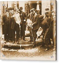 Alcohol Prohibition Era Image Acrylic Print