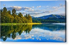 Alder Lake Reflection Acrylic Print