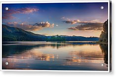 Alder Lake Sunset Acrylic Print
