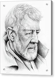 Alec Guinness Acrylic Print by Greg Joens