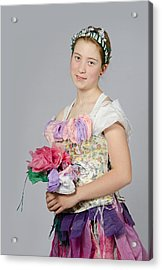 Alegra In Paper Floral Dress Acrylic Print