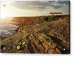 Acrylic Print featuring the photograph Alentejo Cliffs by Carlos Caetano