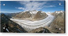 Aletsch Glacier, Switzerland Acrylic Print by Dr Juerg Alean