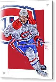 Alex Galchenyuk Montreal Canadiens Oil Art Acrylic Print by Joe Hamilton