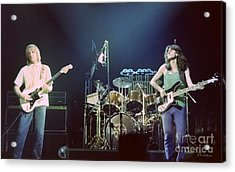 Alex Geddy And Neil Acrylic Print