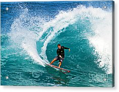 Alex Gray Carving Acrylic Print by Paul Topp