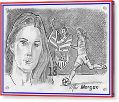 Alex Morgan Acrylic Print by Chris DelVecchio