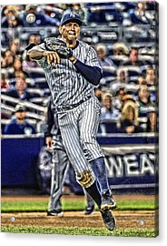 Alex Rodriguez New York Yankees Art 2 Acrylic Print by Joe Hamilton