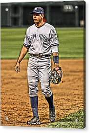Alex Rodriguez New York Yankees Art 4 Acrylic Print by Joe Hamilton