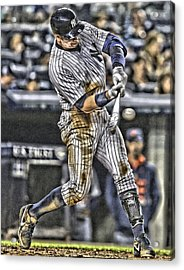 Alex Rodriguez New York Yankees Art1 Acrylic Print by Joe Hamilton
