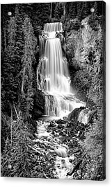 Acrylic Print featuring the photograph Alexander Falls - Bw 1 by Stephen Stookey