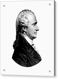 Alexander Hamilton Graphic Portrait  Acrylic Print by War Is Hell Store