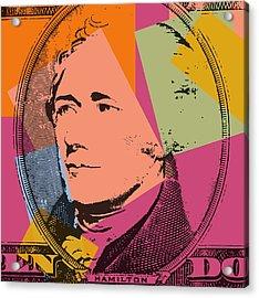 Alexander Hamilton Pop Art Acrylic Print