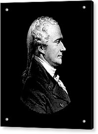 Alexander Hamilton Portrait Acrylic Print by War Is Hell Store