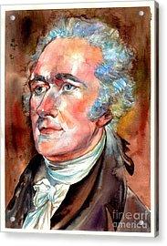 Alexander Hamilton Watercolor Acrylic Print