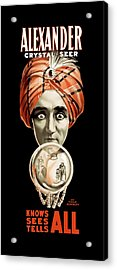 Alexander Knows, Sees And Tells All 1910 Acrylic Print