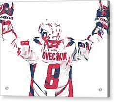 Alexander Ovechkin Washington Capitals Pixel Art 9 Acrylic Print