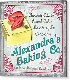 Alexandra's Baking Company Acrylic Print by Debbie DeWitt