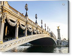 Alexandre IIi Bridge In Paris France Early Morning Acrylic Print