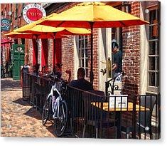 Alexandria Va - Restaurant On King Street Acrylic Print by Susan Savad