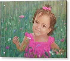 Alexis In Pink Acrylic Print