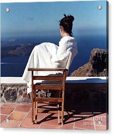 Alexis In Santorini IIi Acrylic Print by Andrea Simon
