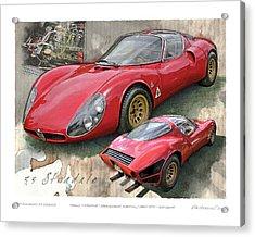 1967 Alfa Romeo 33 Stradale Acrylic Print
