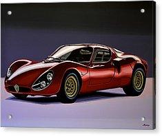 Alfa Romeo 33 Stradale 1967 Painting Acrylic Print by Paul Meijering