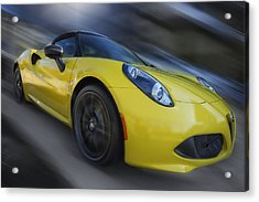 Alfa Romeo 4c Spider Acrylic Print by Larry Helms