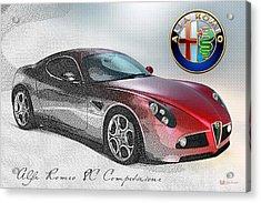 Alfa Romeo 8c Competizione  Acrylic Print by Serge Averbukh