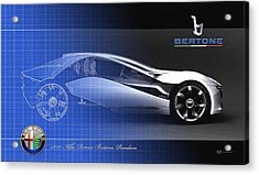 Alfa Romeo Bertone Pandion Concept Acrylic Print by Serge Averbukh