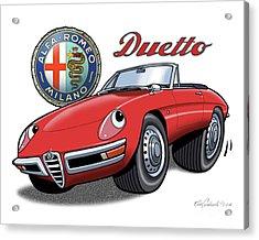 Alfa Romeo Duetto Cartoon Acrylic Print