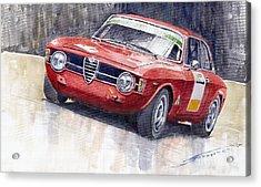 Alfa Romeo Giulie Sprint Gt 1966 Acrylic Print