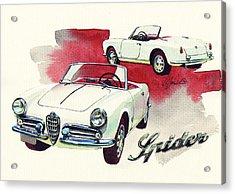 Alfa Romeo Giulietta Spider Acrylic Print by Yoshiharu Miyakawa