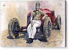 Alfa Romeo Monza Tazio Nuvolari 1932 Acrylic Print by Yuriy  Shevchuk
