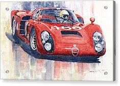 Alfa Romeo Tipo 33 2 Targa Floria 1968 Acrylic Print by Yuriy  Shevchuk