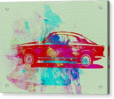 Alfa Romeo  Watercolor 2 Acrylic Print by Naxart Studio