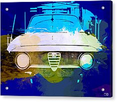 Alfa Romeo Watercolor Acrylic Print