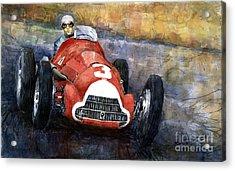 Alfa Romeo158 British Gp 1950 Luigi Fagioli Acrylic Print by Yuriy  Shevchuk
