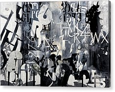 Alfabeto Bianco Nero Acrylic Print