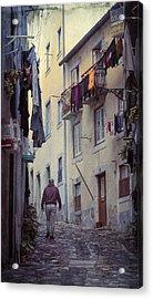 Alfama Life Lisbon Portugal Acrylic Print