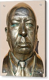 Alfred Hitchcock At Universal Studios Hollywood California Dsc3615 Acrylic Print by Wingsdomain Art and Photography