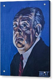 Alfred Hitchcock Acrylic Print by Brent Andrew Doty